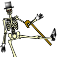 Classy Skeleton from Pleasantville by Night